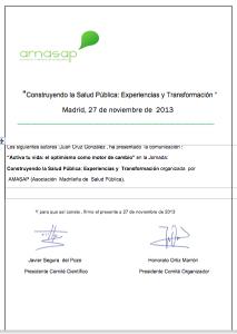 certificado AMASAP