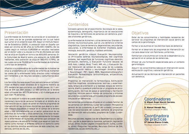 programa 2014 alzheimer COPM 2