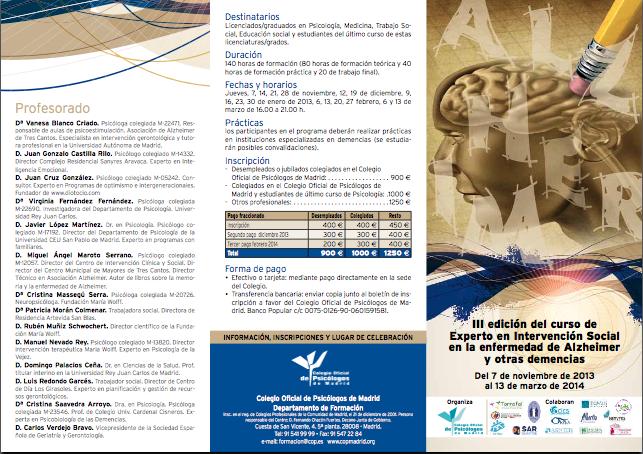 programa 2014 alzheimer COPM