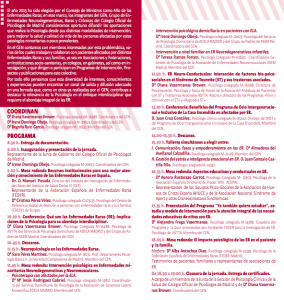 Díptico Jornada Psicología y  Enfermedades Raras- COP- 2013 2
