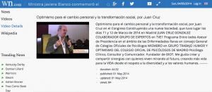 Ministra Javiera Blanco optimismo cambio