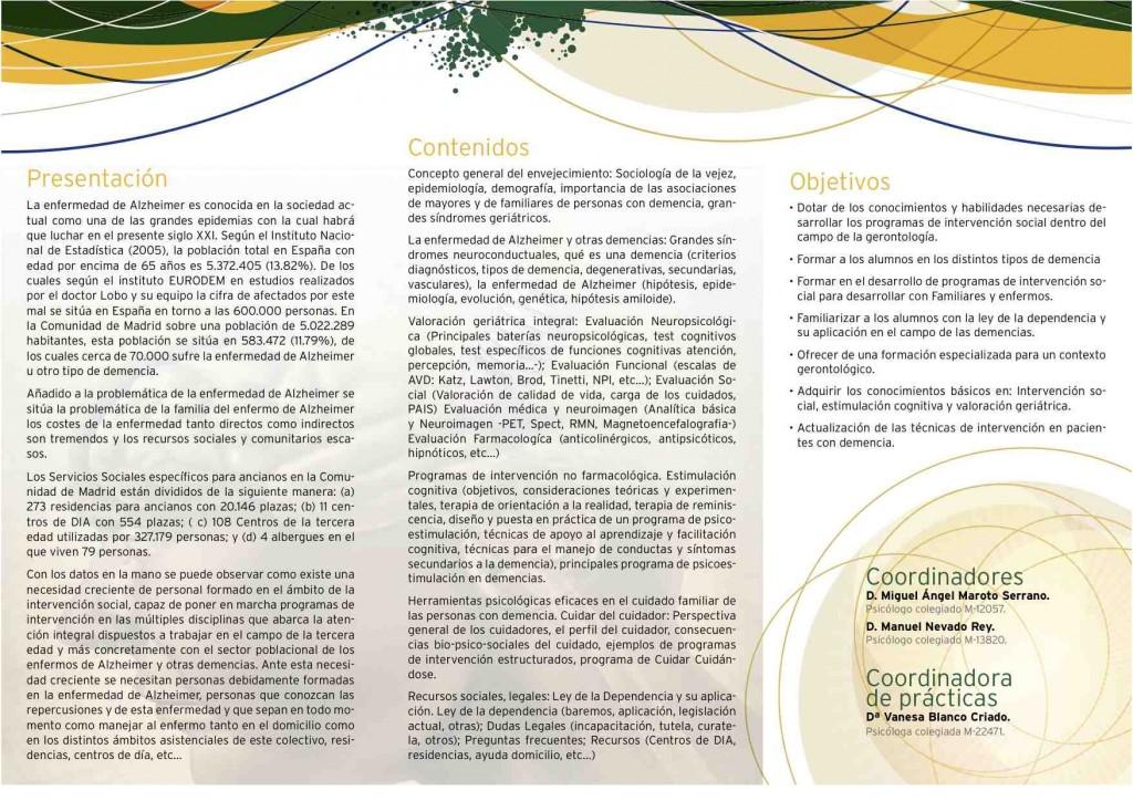 PROGRAMA  Optimismo programas intergeneracionales  curso  2014:15