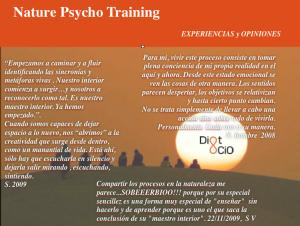Nature Psycho Training experiencias